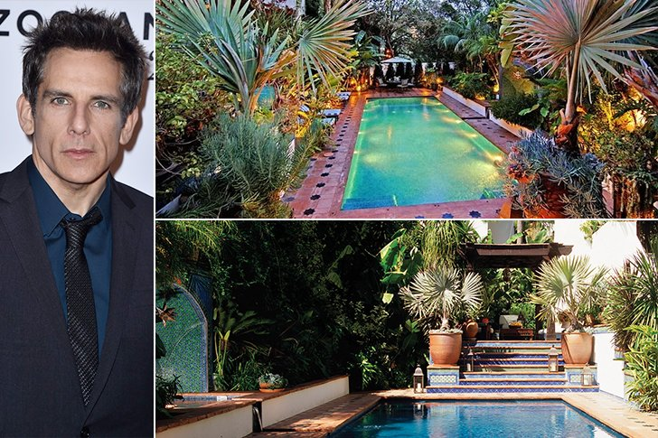 Great ... Stiller Has A Very Distinct Style For His House U2013 A Mixture Of The  Mediterranean And The Middle East, Evident Even In The Stairs Leading To  The Pool.