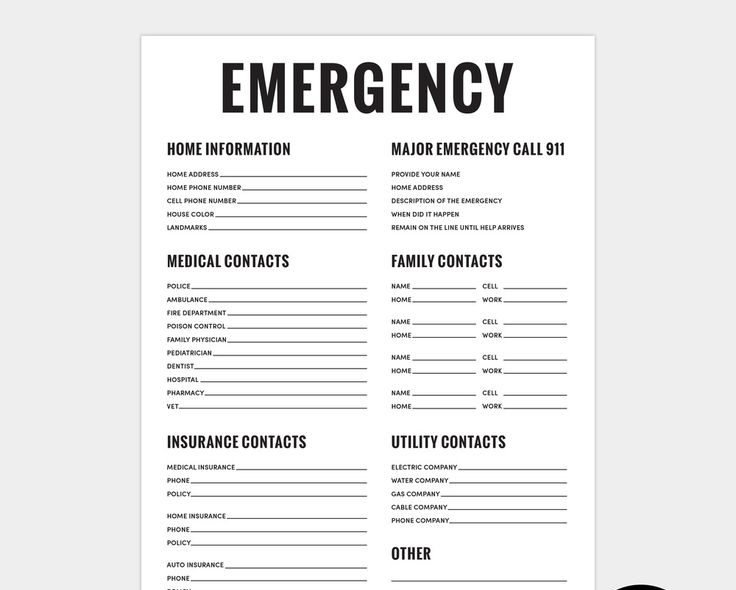 United States Emergency Contact List. You Can Call Authorities For Help and Rescue