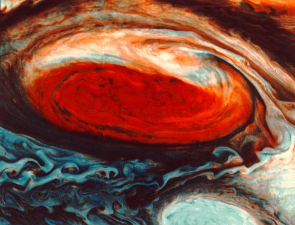 NASA's Satellite Image of Jupiter's Red Swirling Mystery