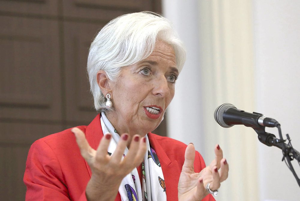 International Monetary Fund Christine Lagarde Reported the World's Growth Spurt Over the Decade