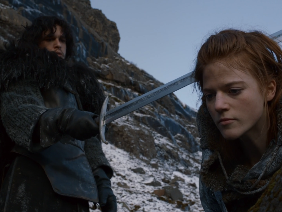 Kit Harrington and Rose Leslie's First Appearance Together in Game of Thrones
