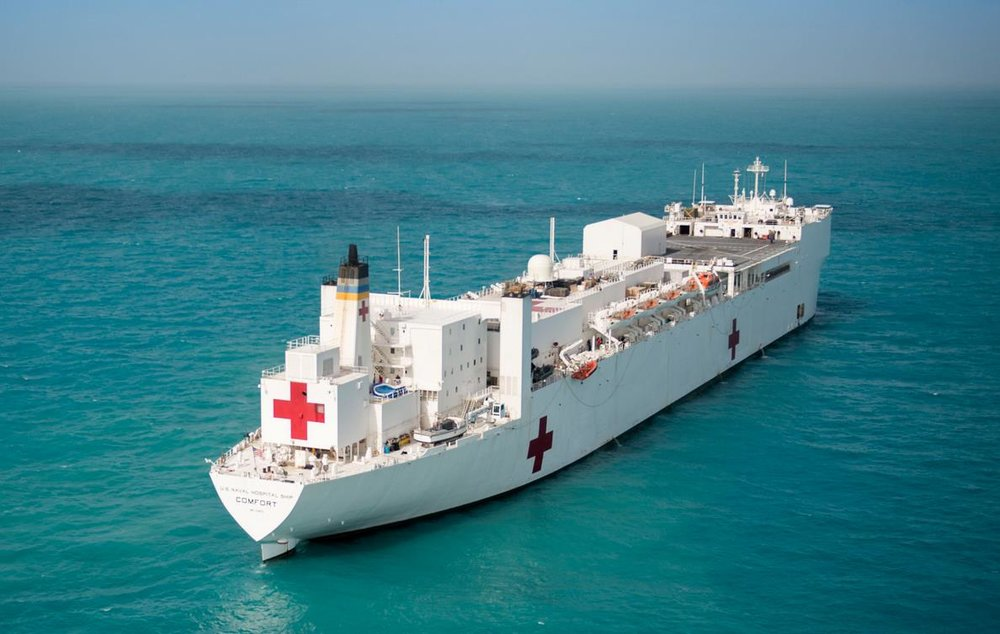 Many Politicians Urged President Trump to Deploy USNS Comfort to Puerto Rico and Lift the Jonas Act