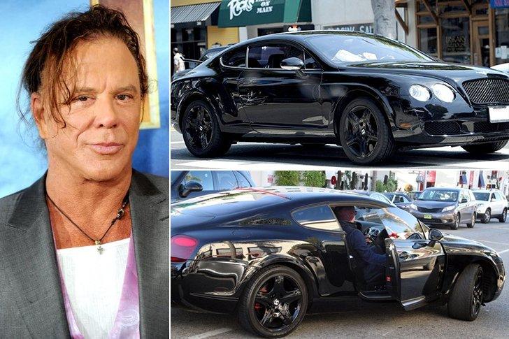 Mickey Rourke Bentley Continental Gt Estimated 165k