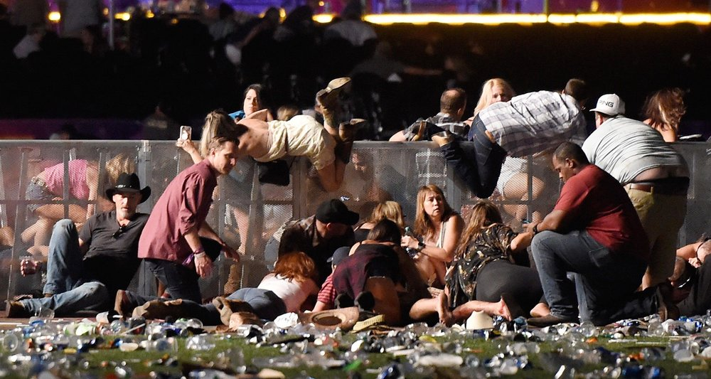 People Docking and Hiding to Save Themselves from Las Vegas Mass Shooting