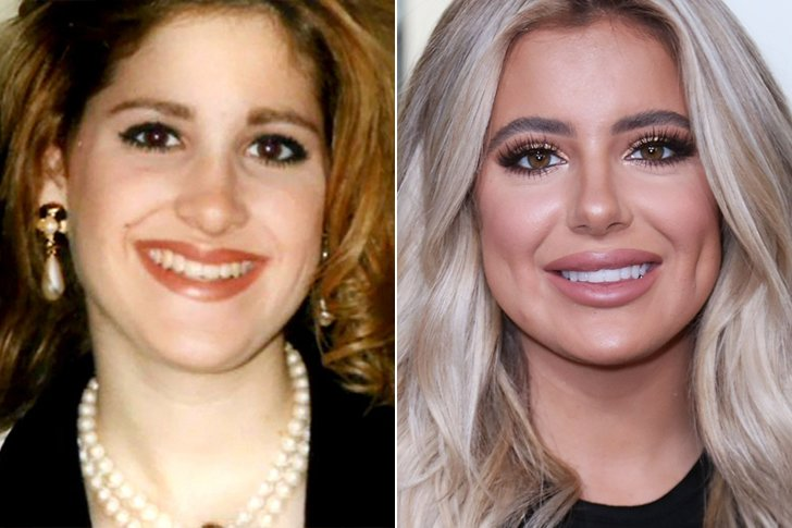 celebs and their parents at the same age